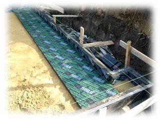 Укладка плит из пеностекла на основание (песок)